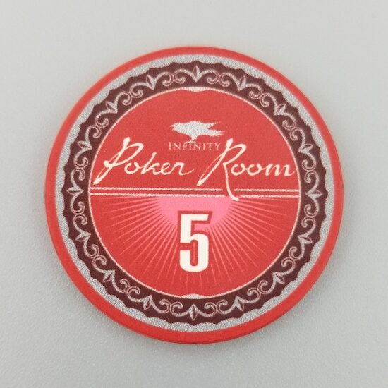 $5 Poker Chip - the Infinity Poker Room by Crow's Head Poker in red
