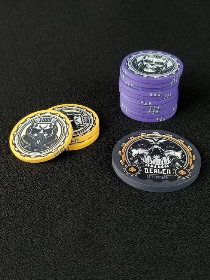 Aftermath Dealer Button and Poker Chips