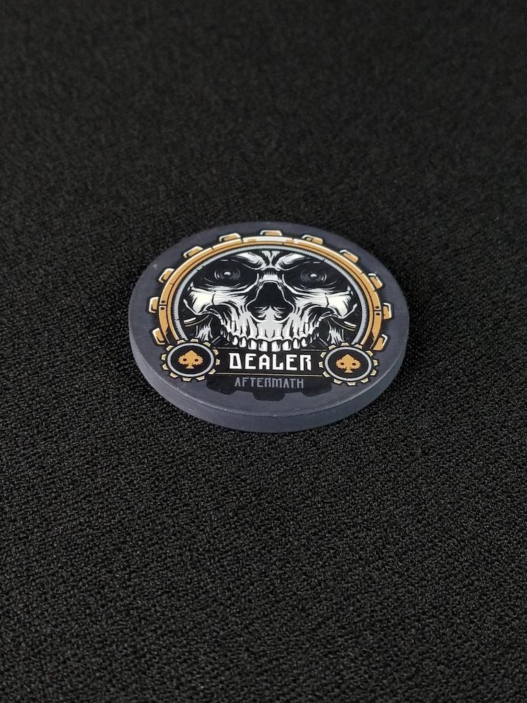 Aftermath Dealer Button for Poker