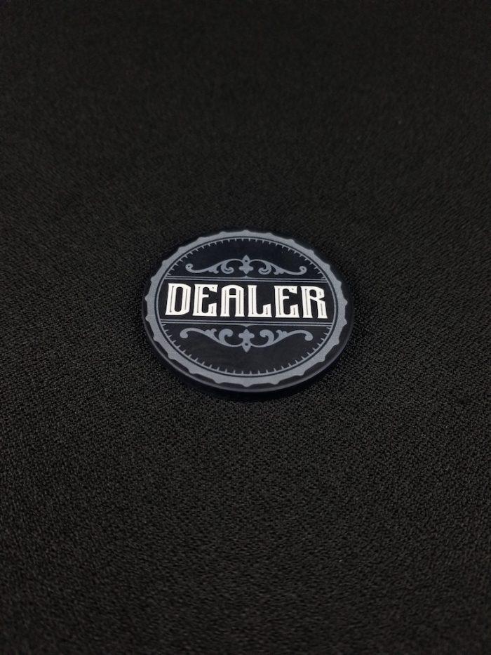 Old West Dealer Button showing Black Side